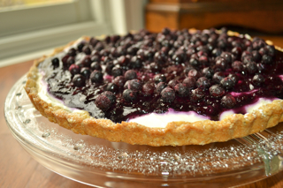 Blueberry Goat Cheesecake