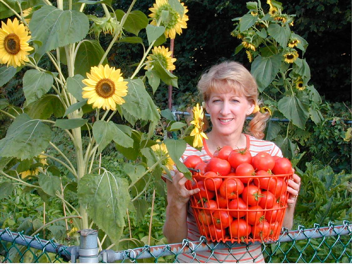 Mary in Her Garden