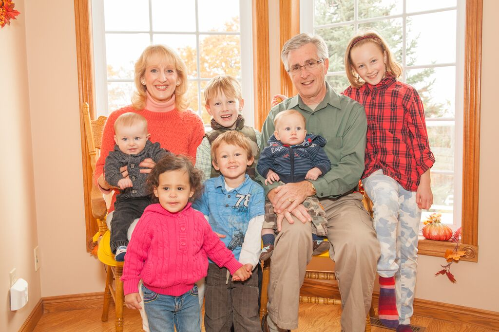 Mary with Husband of 40 years and grandchildren